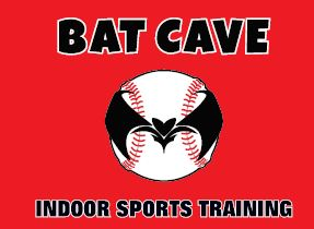 bat cave on red back ground